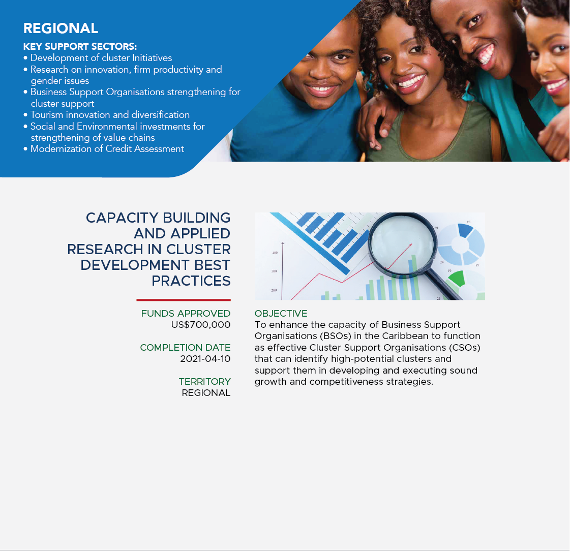 Capacity building and applied research in cluster development best practices