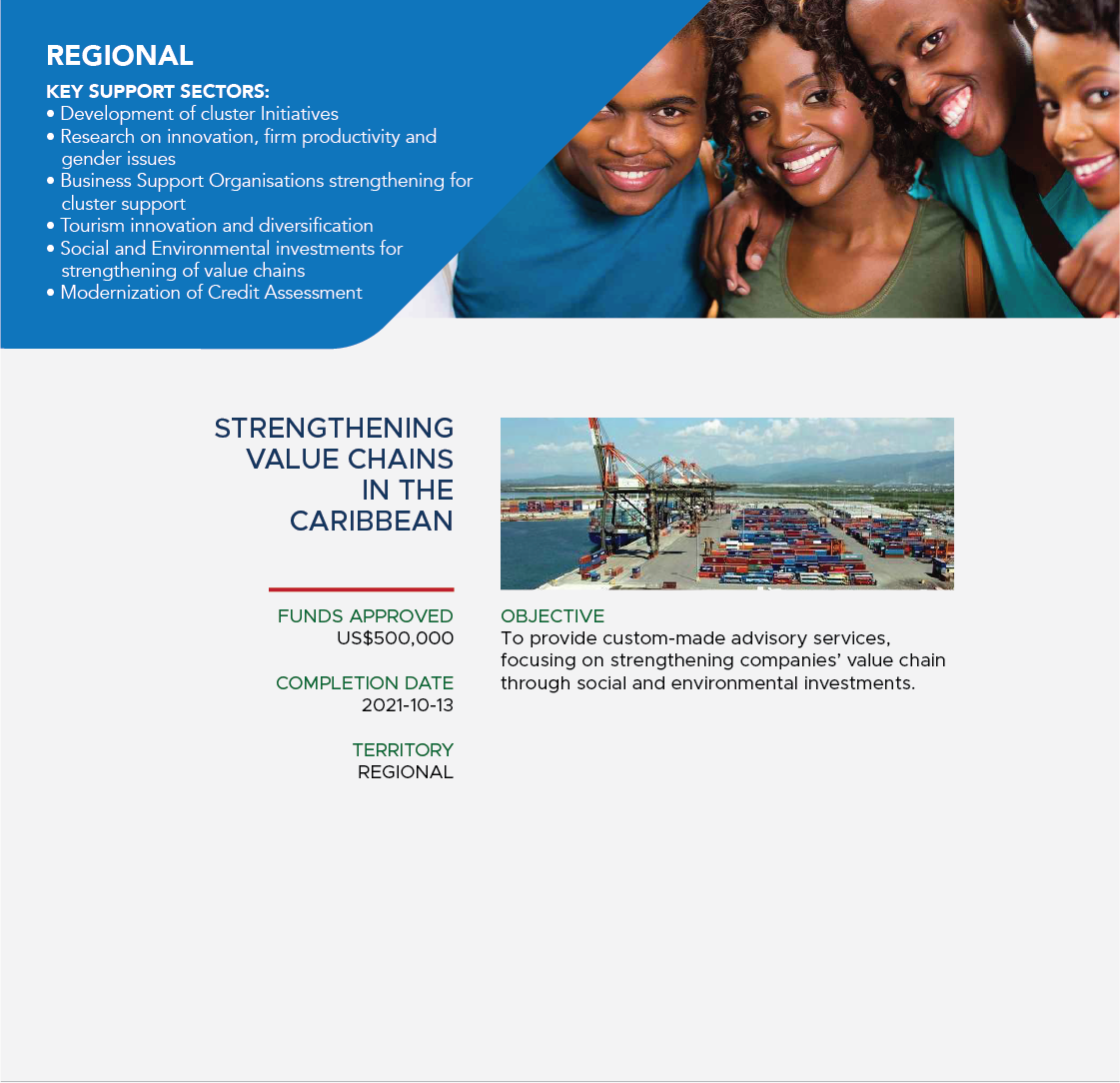 Strengthening value chains in the Caribbean